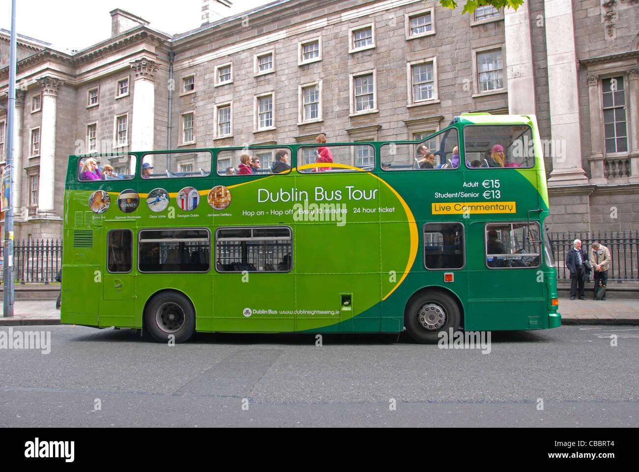 Dublin Bus Hop On Hop Off Tour Bus Ireland Uk   Stock Image
