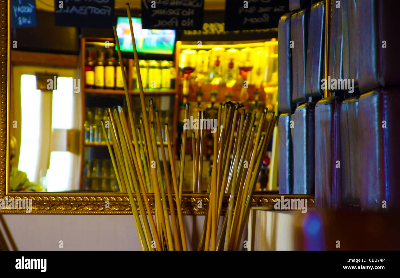 Many Pool Cue Cues - Stock Image