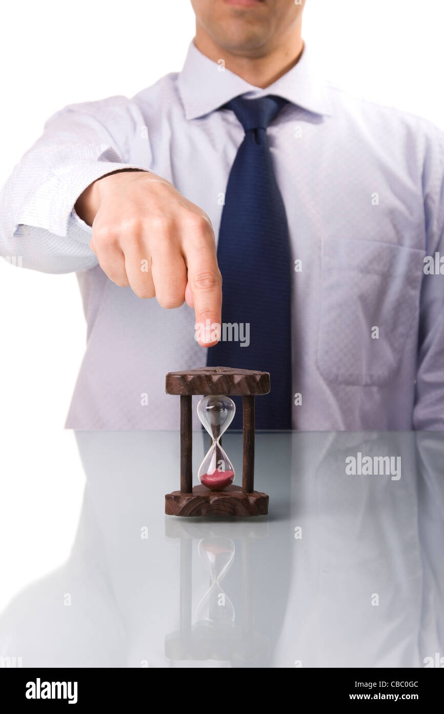 your boss demands punctuality (selective and soft focus) - Stock Image