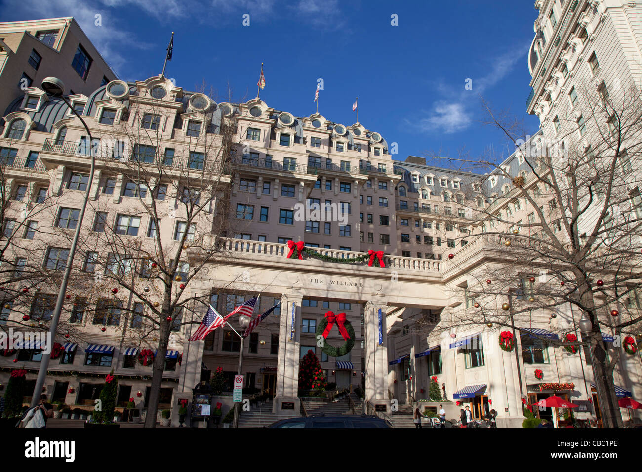 Washington, DC - The Willard InterContinental Hotel, a luxury hotel around the corner from the White House. - Stock Image