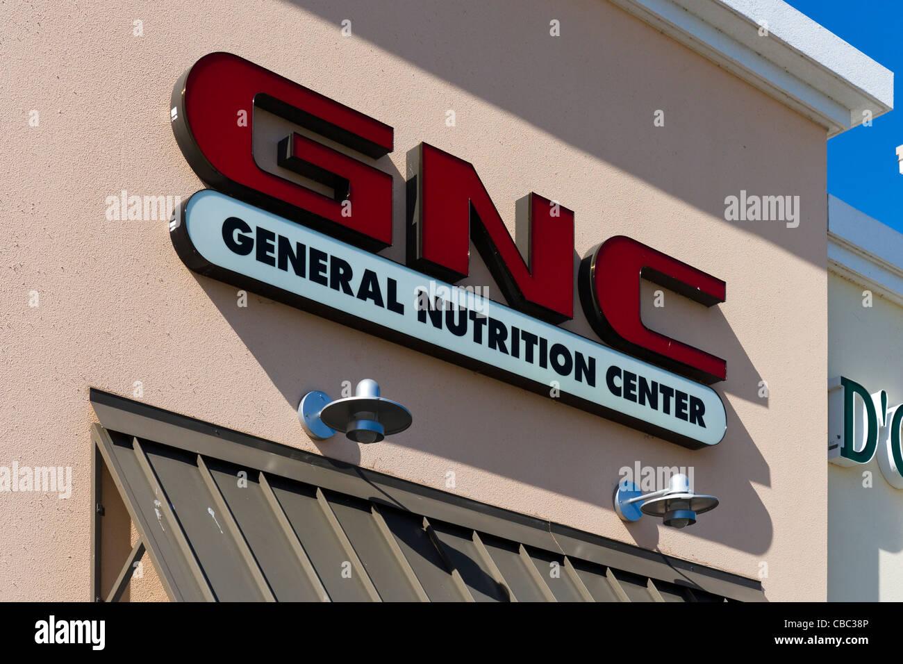 GNC store at Posner Park retail development, Davenport, Central Florida, USA - Stock Image