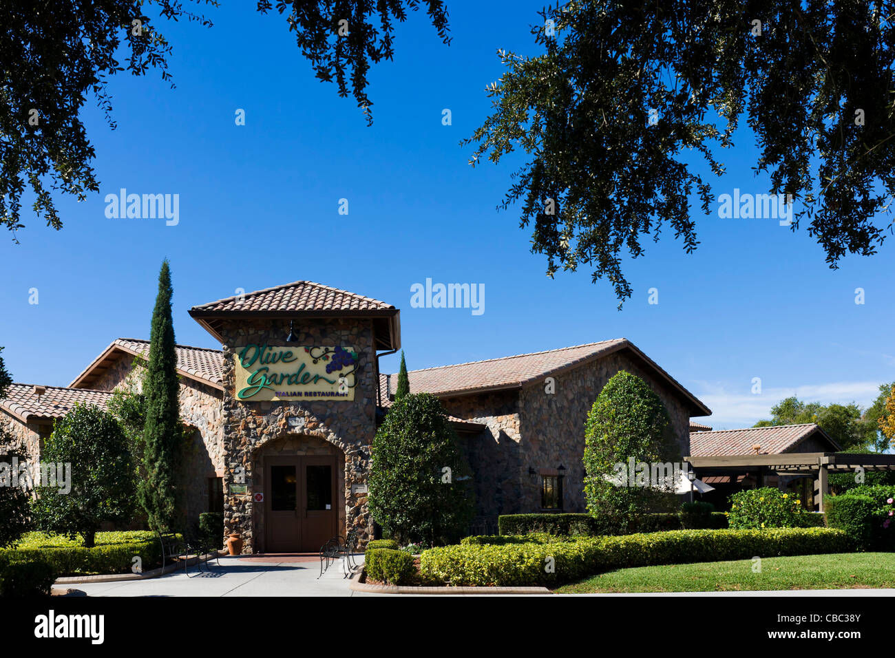 Nice Olive Garden Restaurant On International Drive, Orlando, Central Florida,  USA   Stock Image