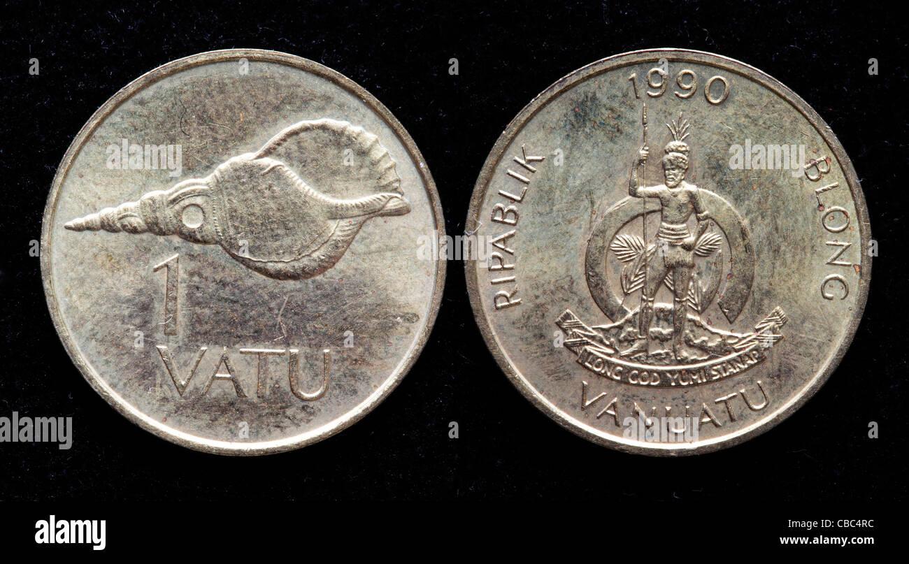 1 Vatu coin, Vanuatu, 1990 - Stock Image