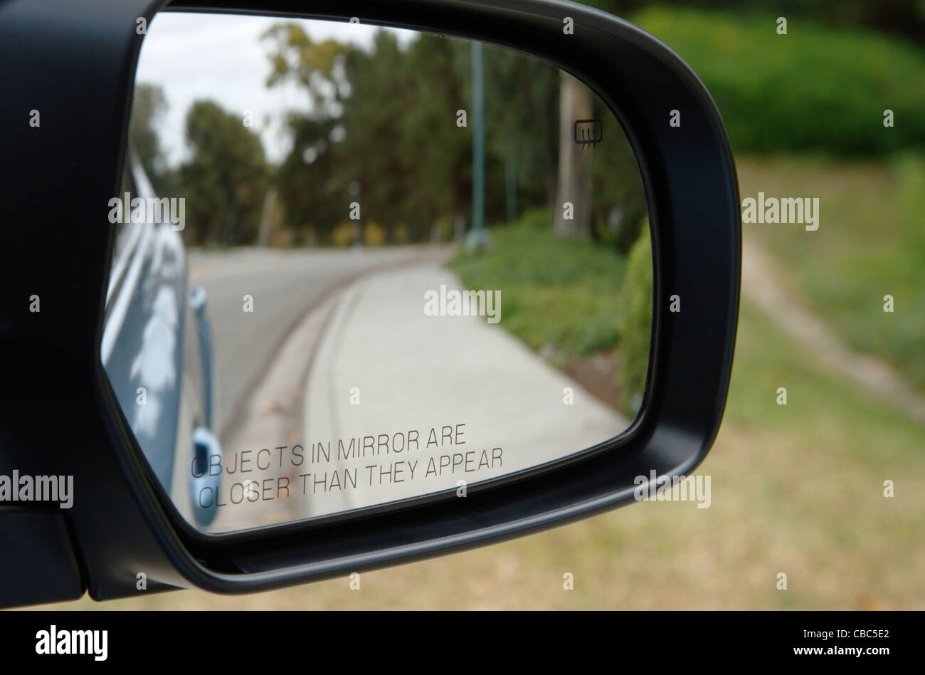 Side-view mirror - Stock Image