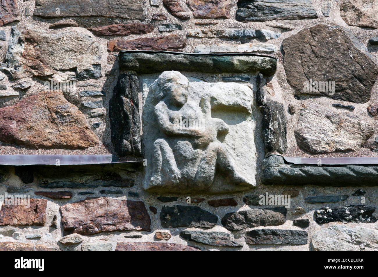 A sheela na gig carving on the tower of st clement s