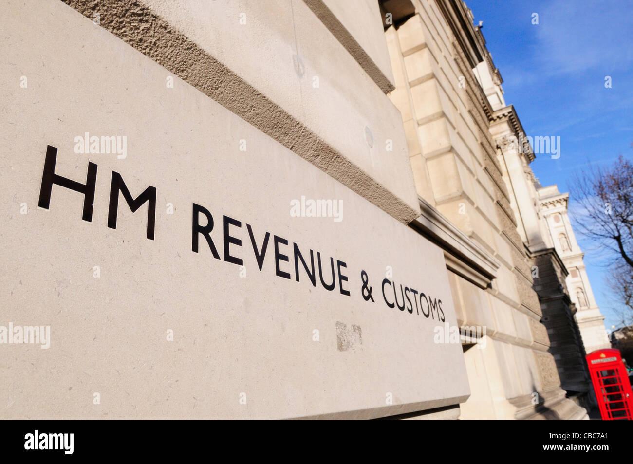 HM Revenue and Customs, Whitehall, London, England, UK - Stock Image