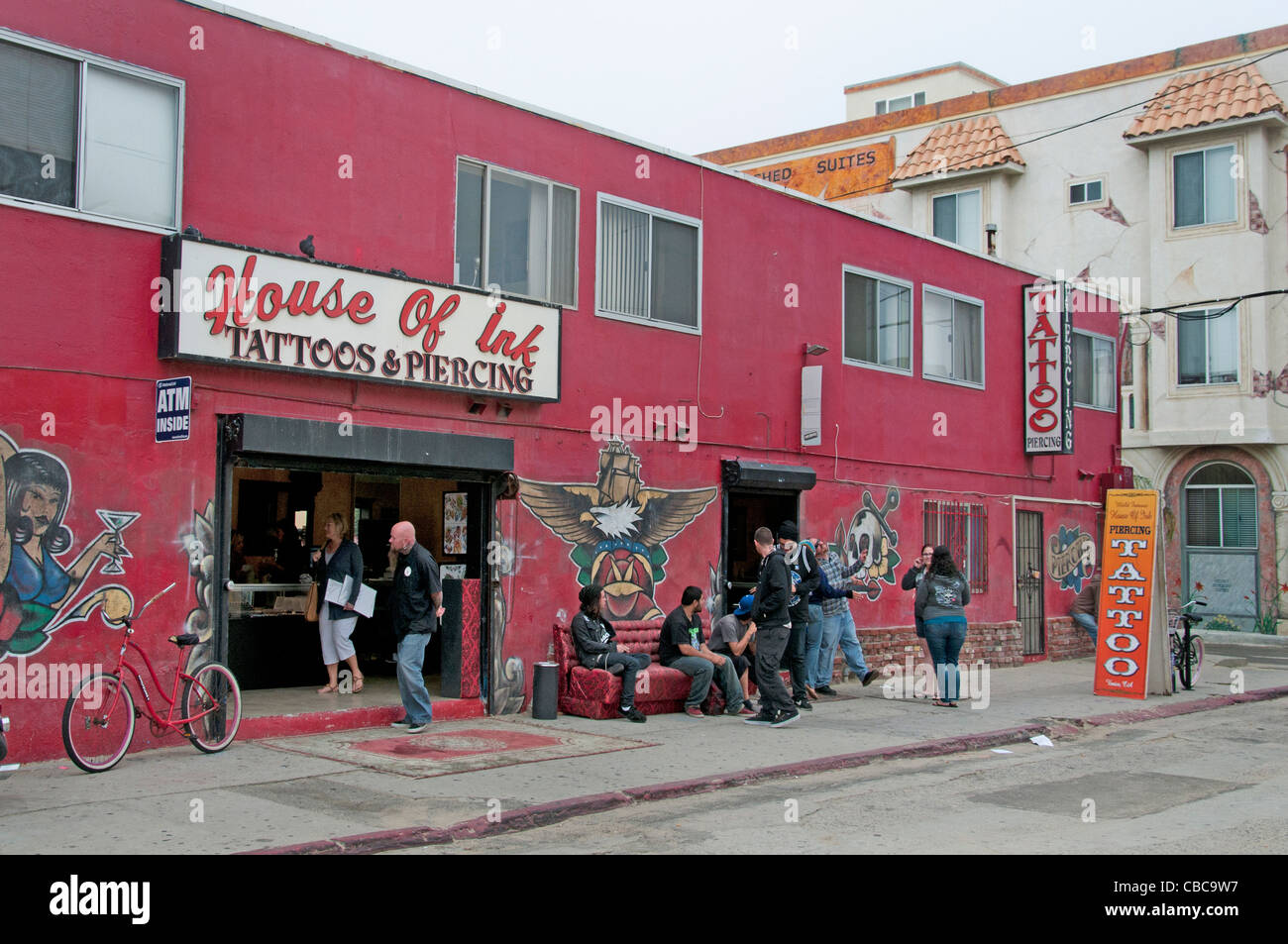 House Of Ink Tattoo And Piercing Shop Venice Beach California United States Stock Image