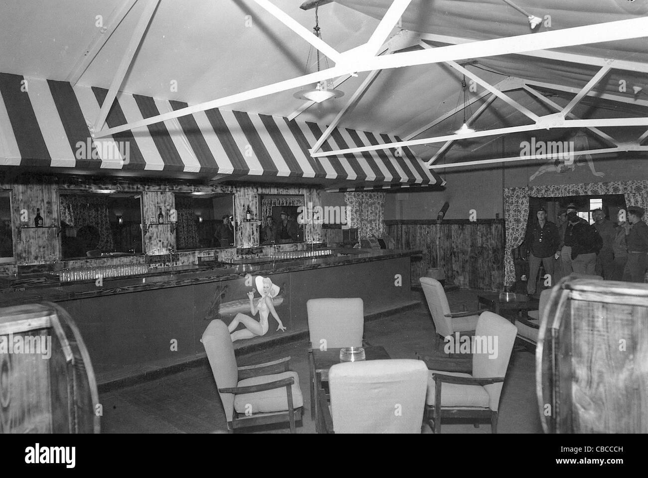 American USAAF officers mess hall. England WW11. - Stock Image
