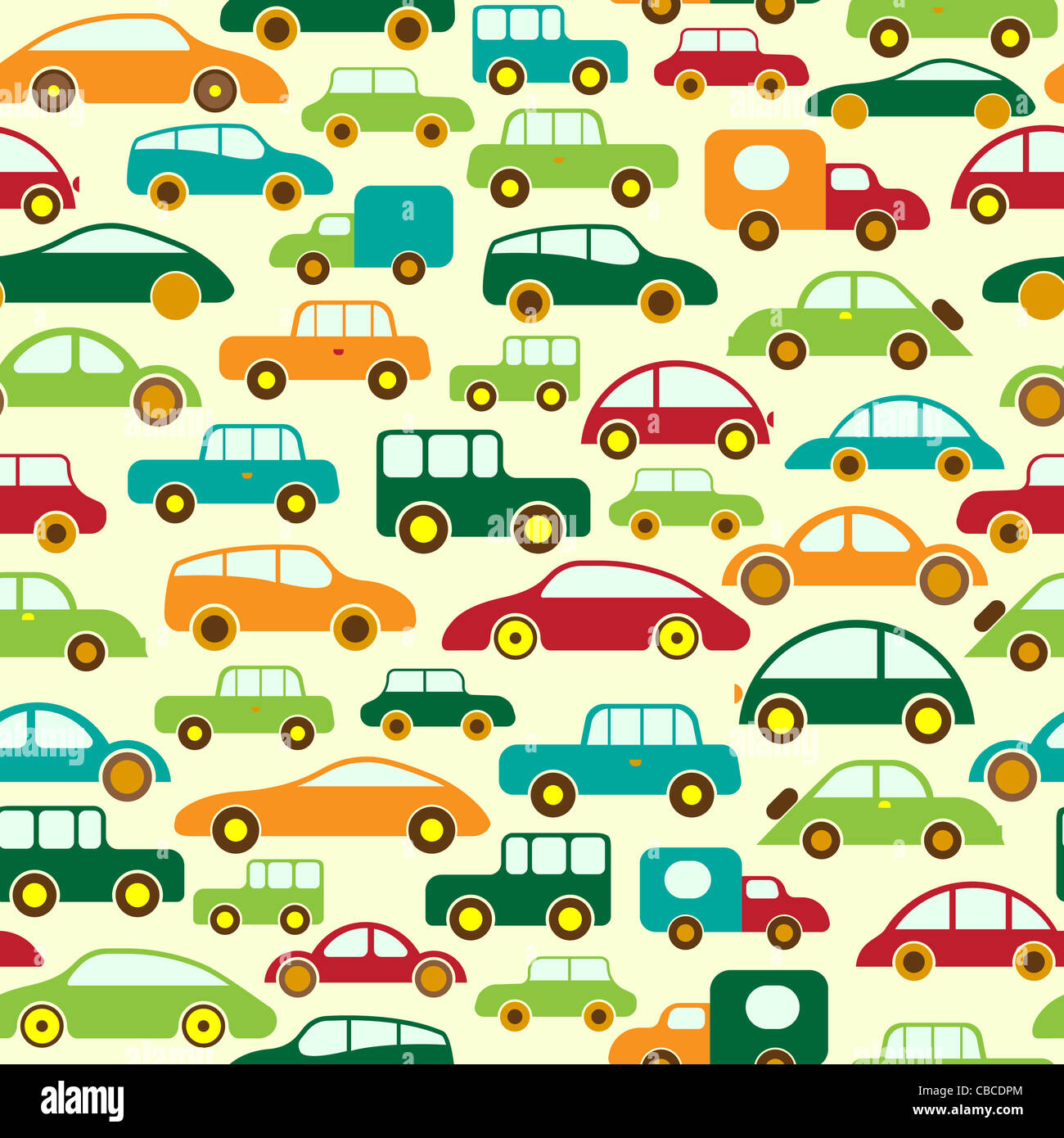 Car Seamless Wallpaper or Background - Stock Image