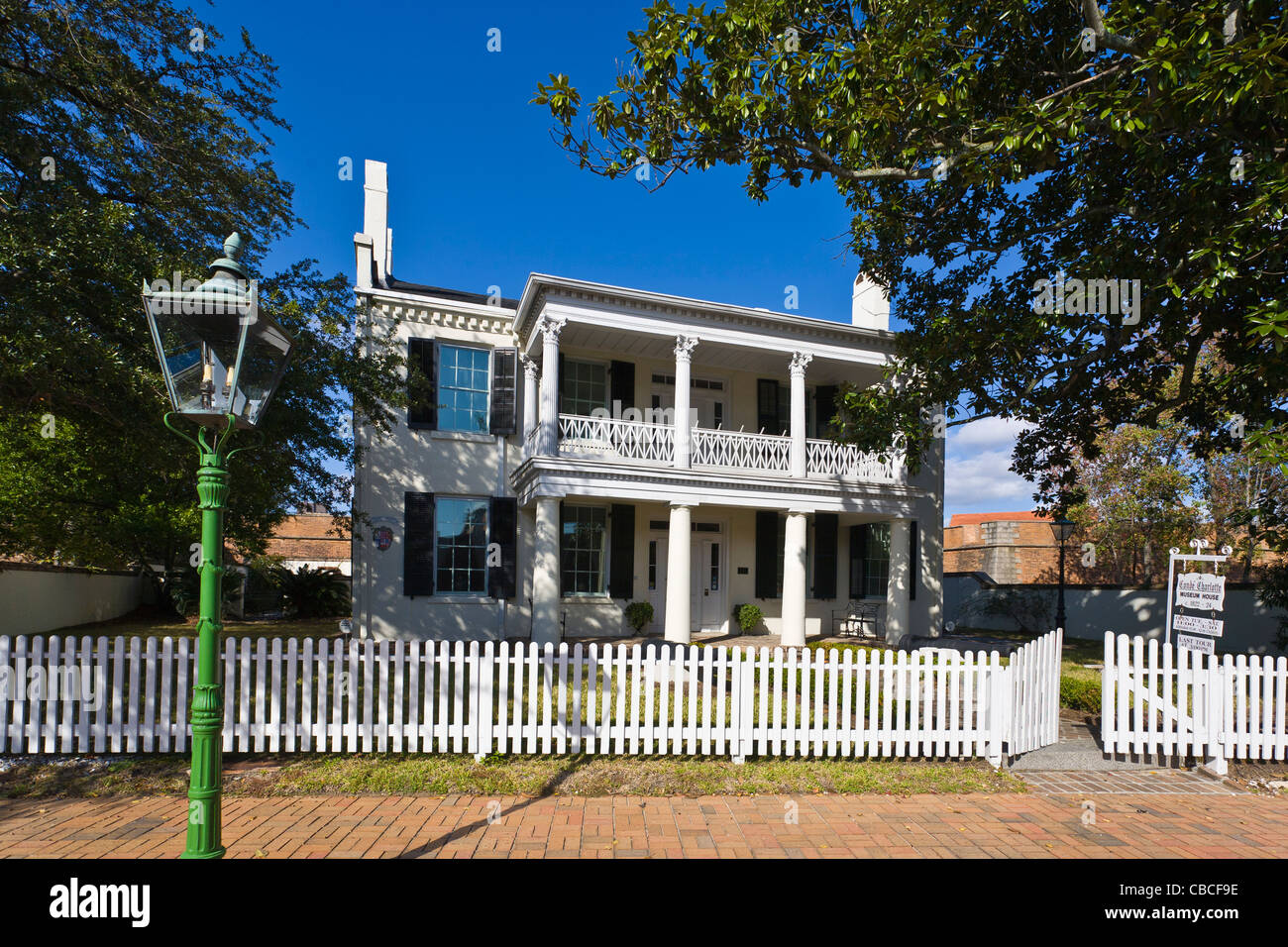 The Conde-Charlotte Museum House, also known as the House of Five Flags in Mobile Alabama - Stock Image