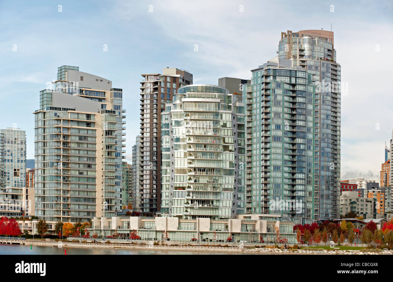 Apartment buildings at Yaletown in Vancouver Stock Photo ...
