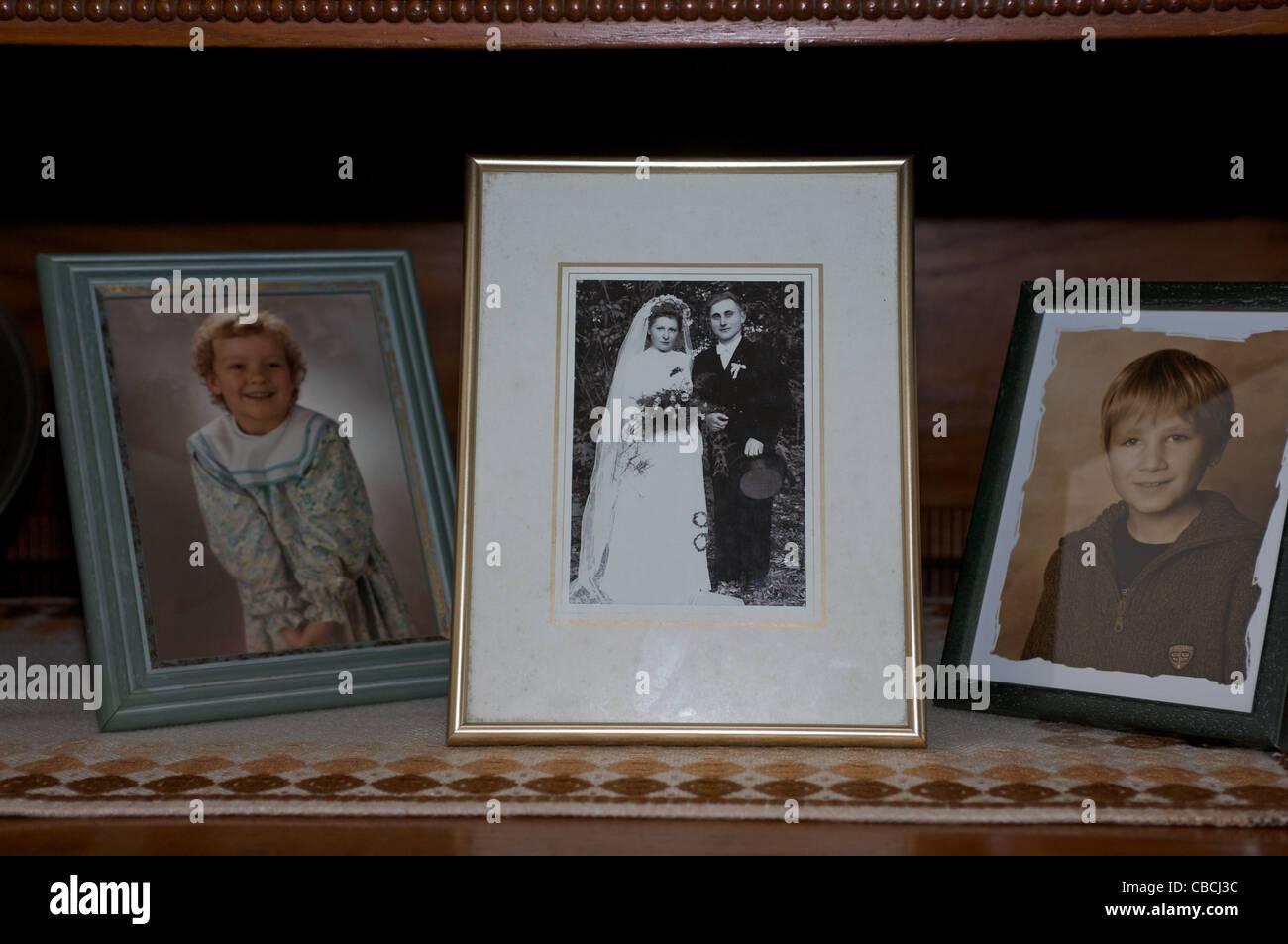 Family portraits - Stock Image