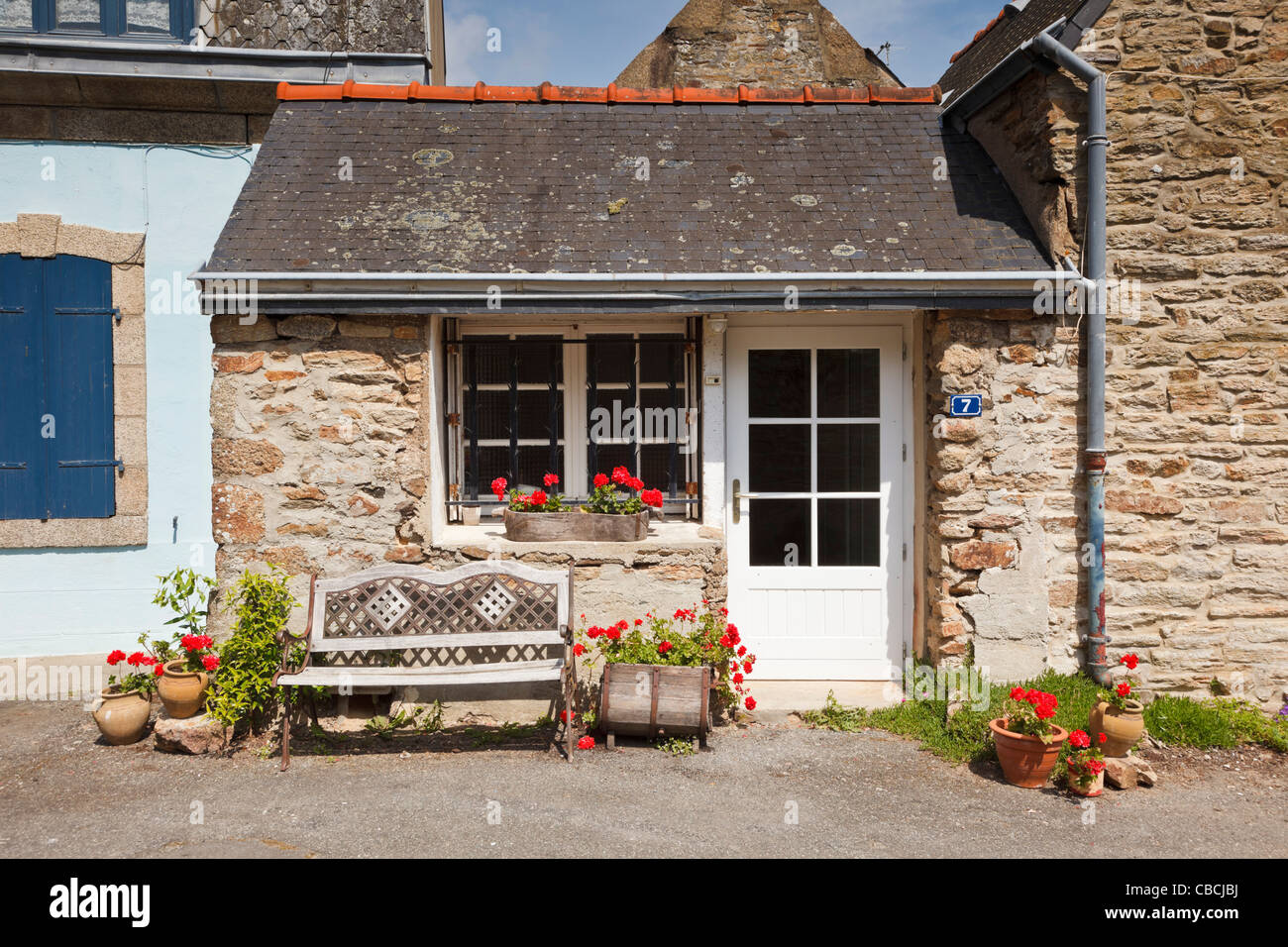 Unusual tiny house in Concarneau, Finistere, Brittany, France - Stock Image
