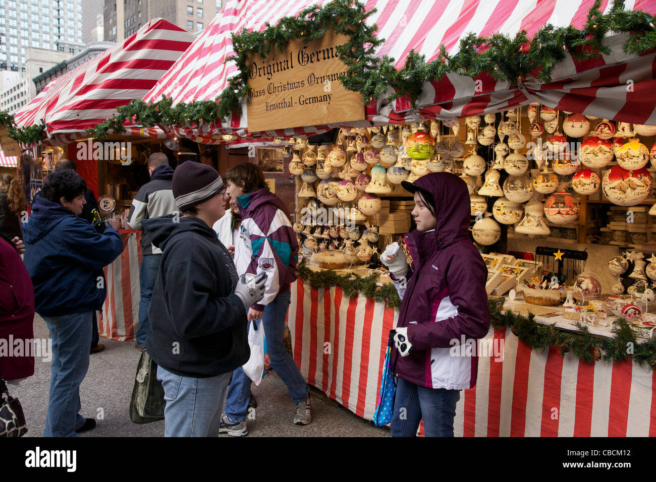 german christmas ornaments for sale chicago christkindlmarket 2011 stock image