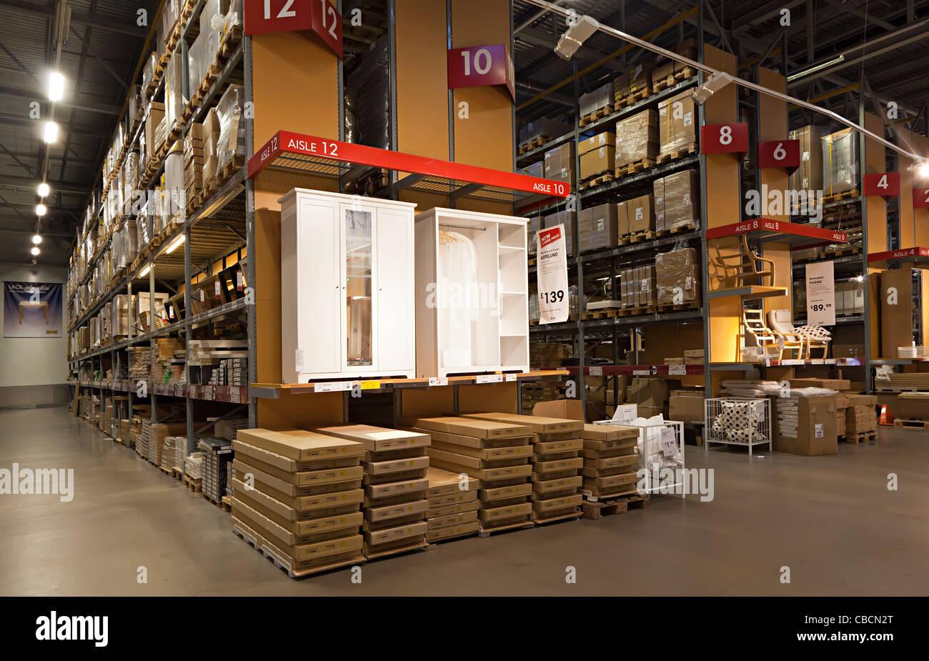 Ikea stock on shelves UK - Stock Image