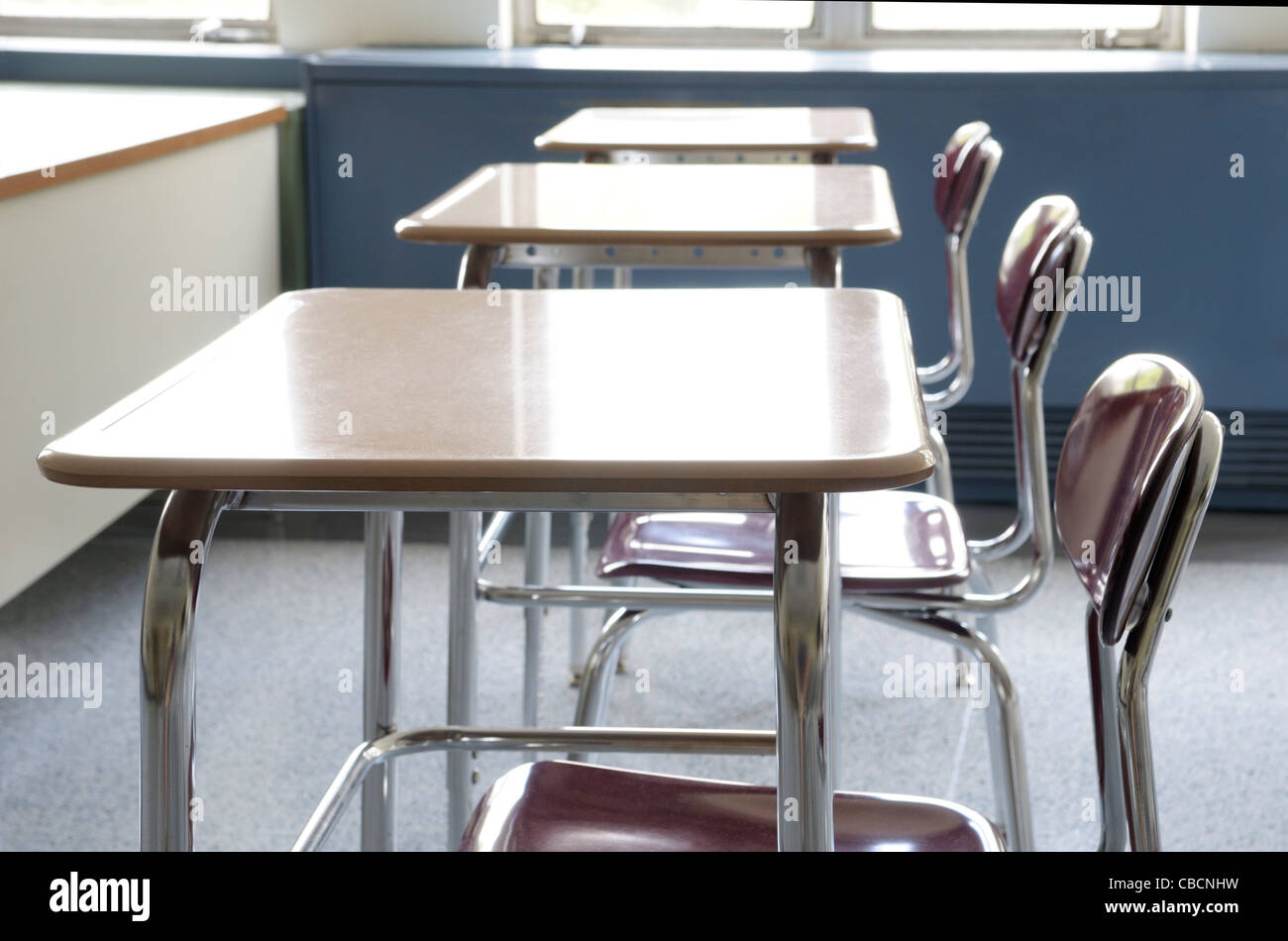 Rows Of Desks Stock Photos & Rows Of Desks Stock Images - Alamy