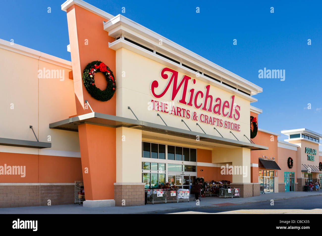Michaels Arts and Crafts store at Posner Park retail development, Davenport, Central Florida, USA - Stock Image