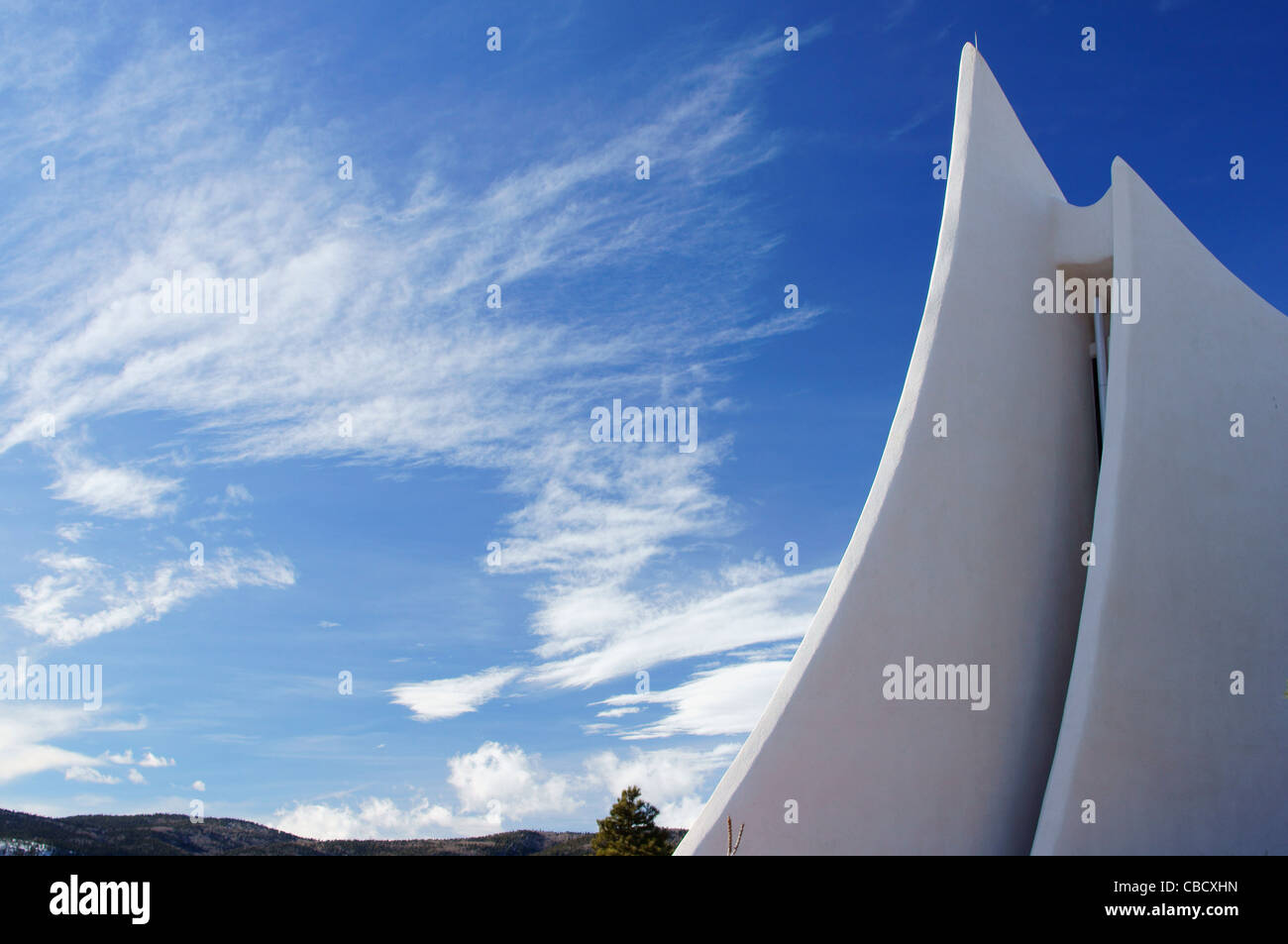 angel fire vietnam veterans state memorial nm new mexico spire benchmark blaze feature fragment guide hill - Stock Image