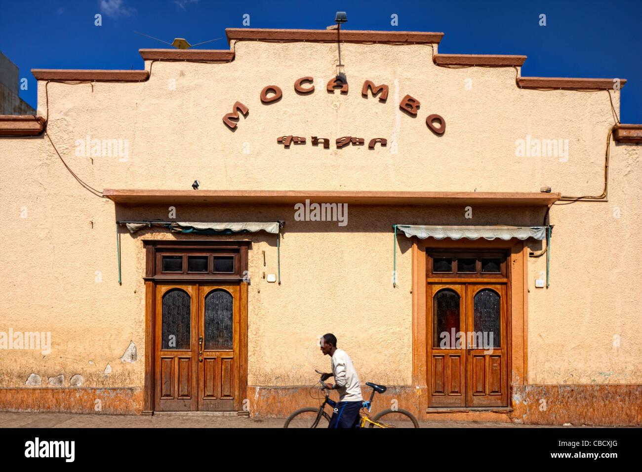 Mocambo on Adi Hawesha Street, Asmara, Eritrea, Africa Stock Photo