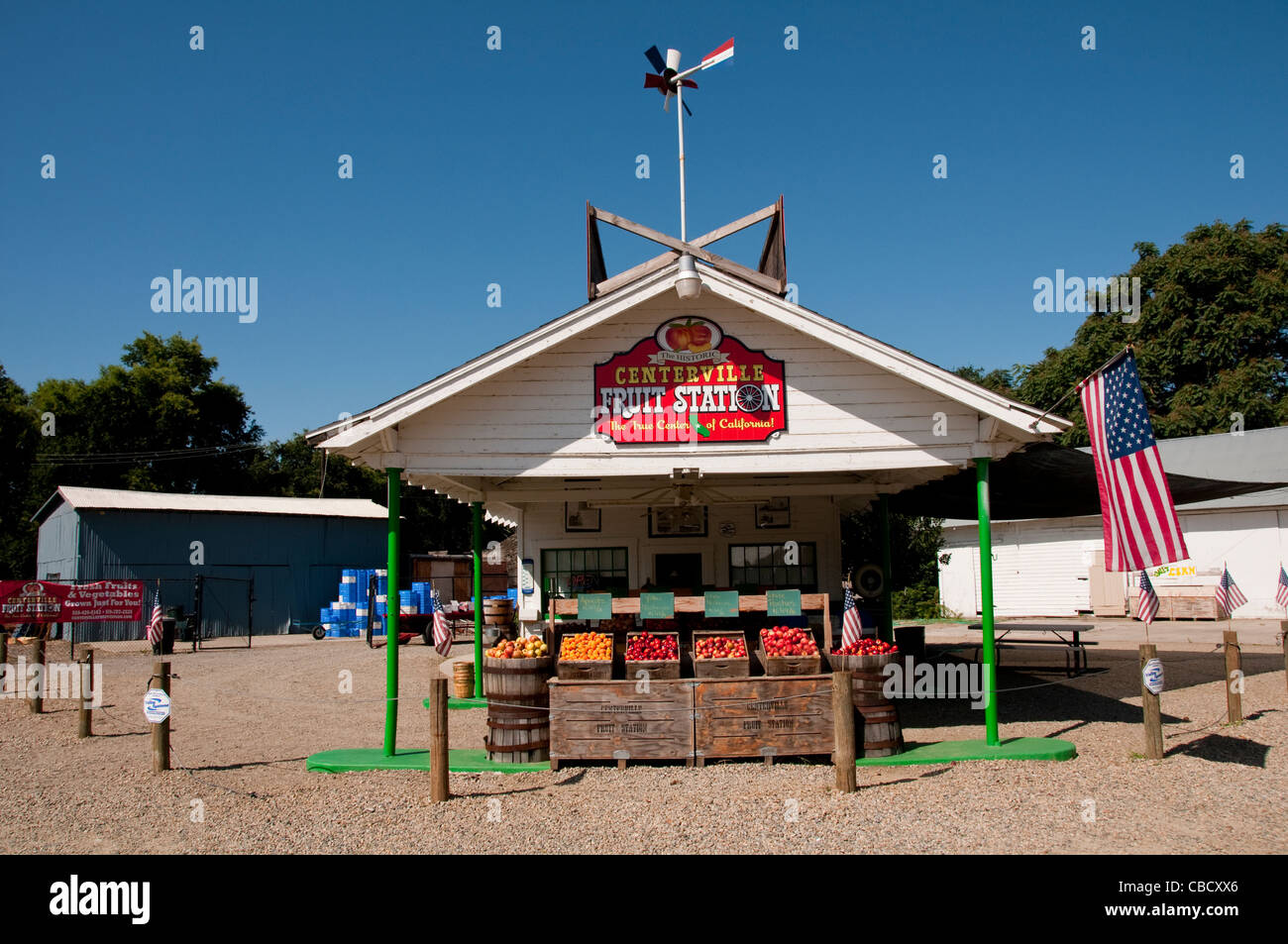 Centreville Fruit Stand Roadside produce stand Centreville between Fresno and Kings Canyon - Stock Image