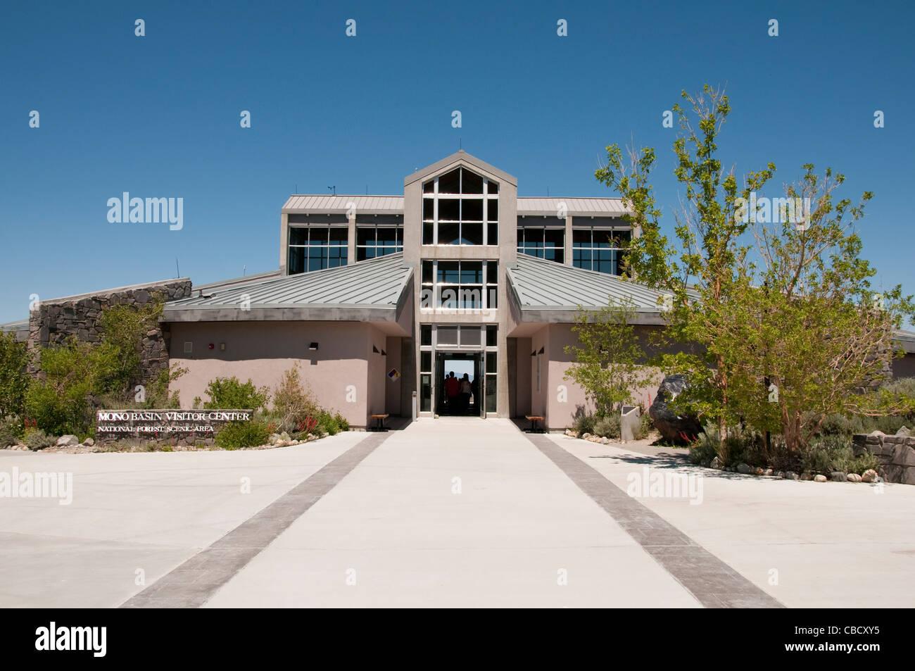 Mono Basin Visitors Center Mono Lake California - Stock Image