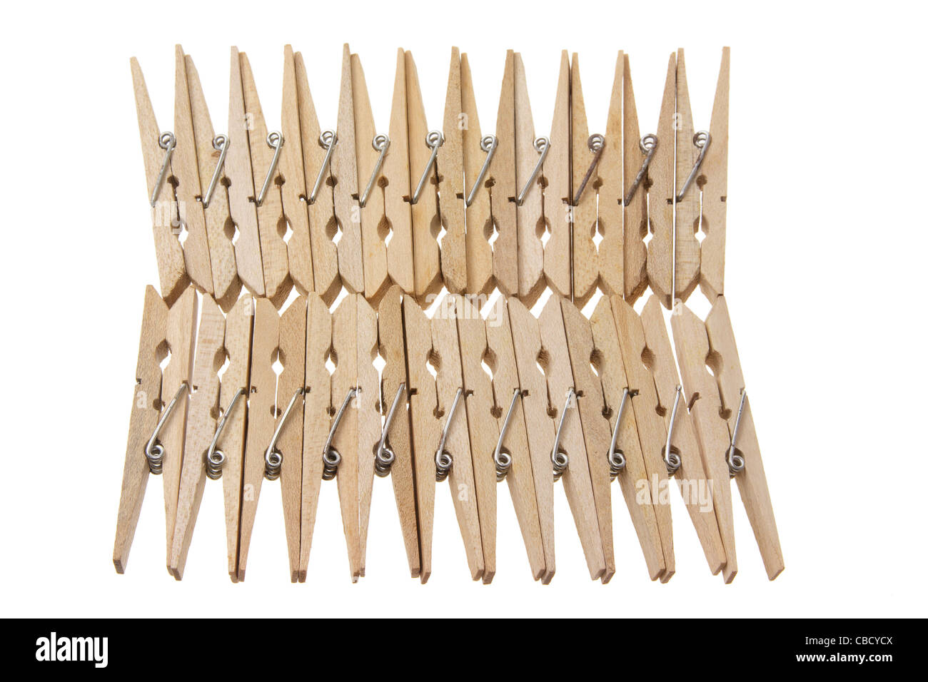 Clothes Pegs - Stock Image