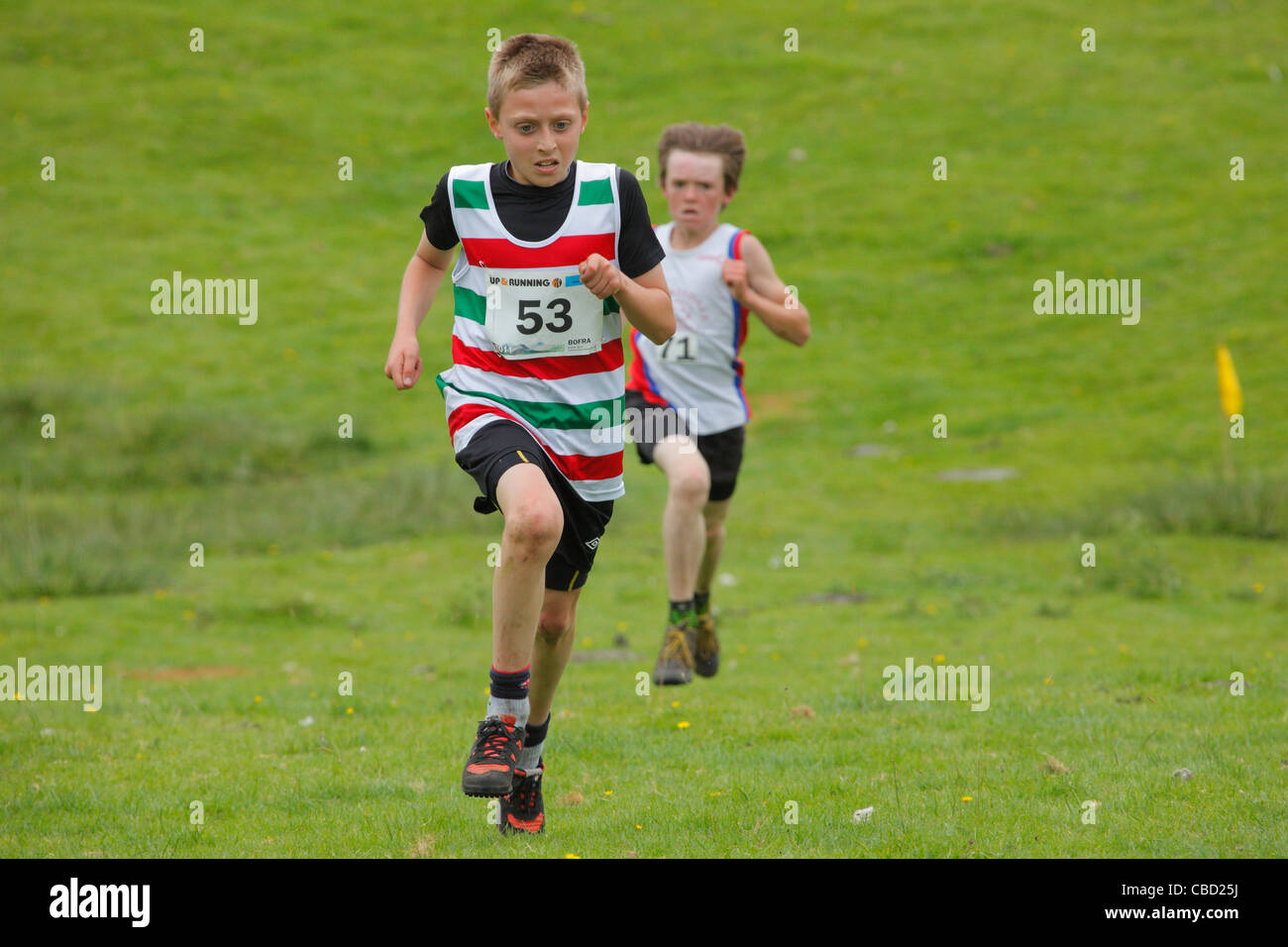 Junior Fell Race 2011 at Ambleside Sports, The Lake District, Cumbria, England, UK - Stock Image