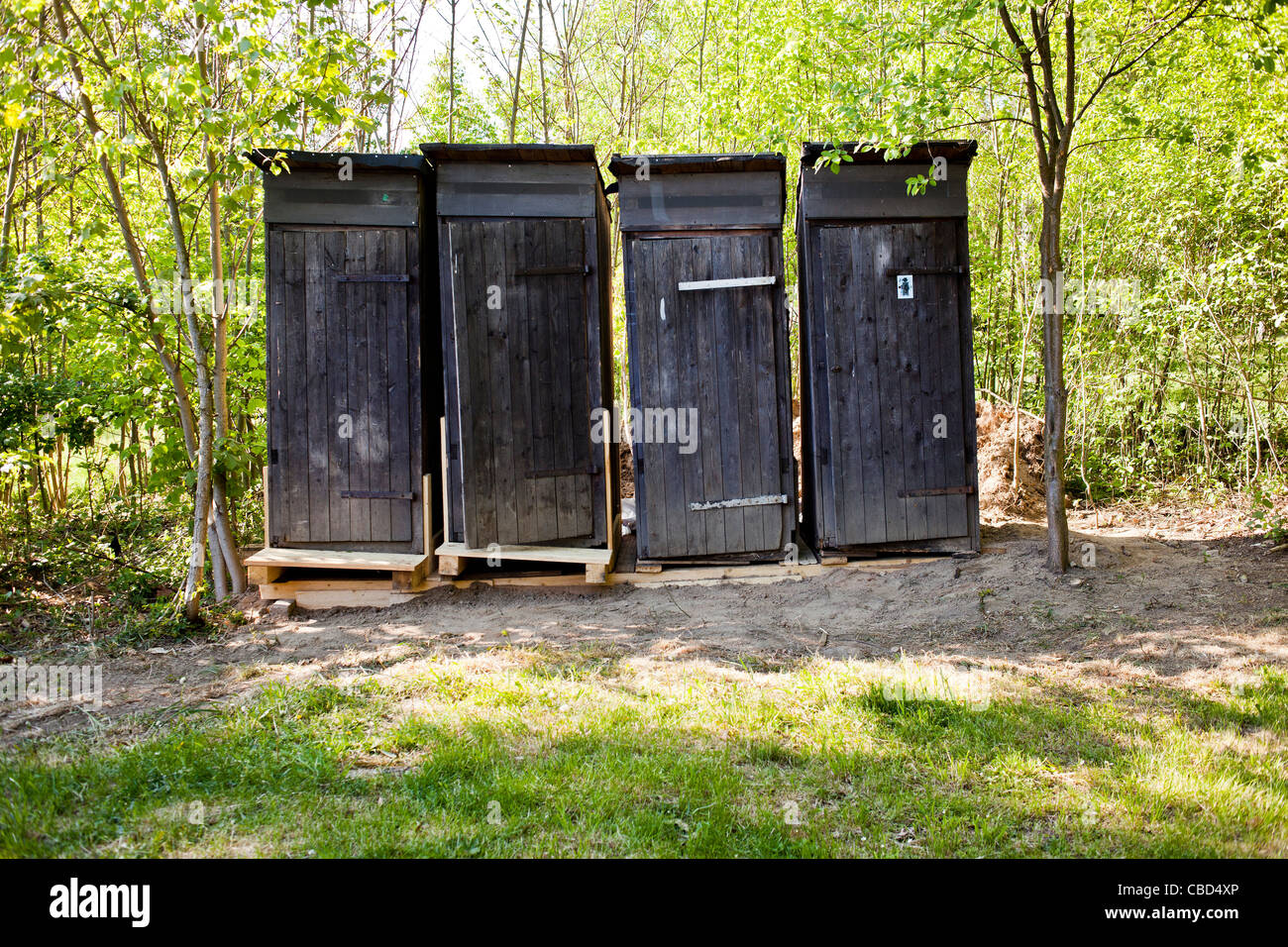 Primitive outdoor toilets without running water, latrine, WC. (CTK Photo/Rene Fluger) - Stock Image