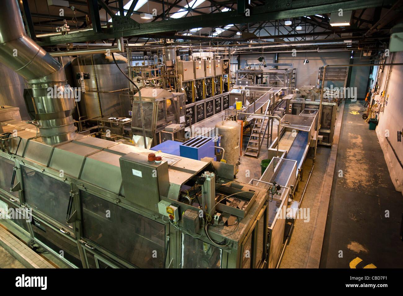 UK, England, Yorkshire, Masham, inside Black Sheep Brewery, modern brewing plant - Stock Image