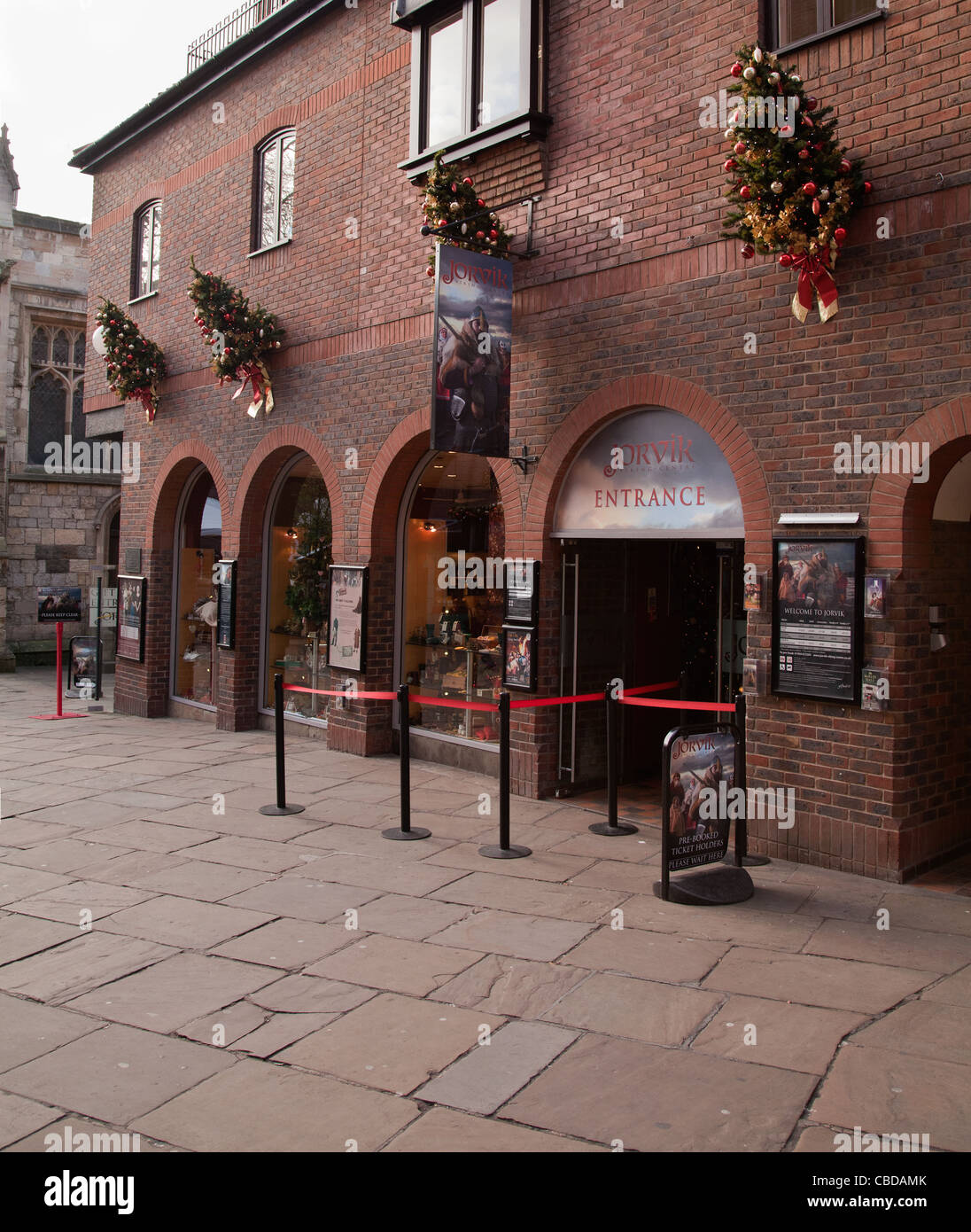 Jorvik Viking museum center York. - Stock Image
