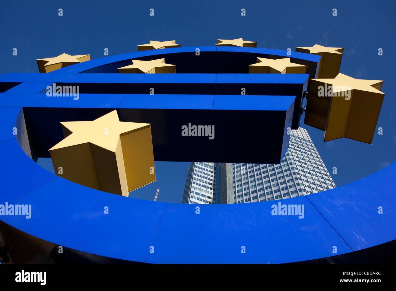 The Euro sign, the official currency of the Eurozone in the European Union. Photo:Jeff Gilbert - Stock Image