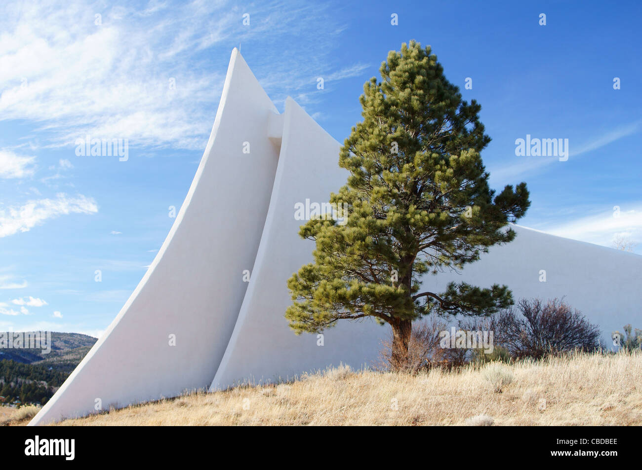 angel fire vietnam veterans state memorial nm new mexico spire pine benchmark blaze feature fragment guide - Stock Image