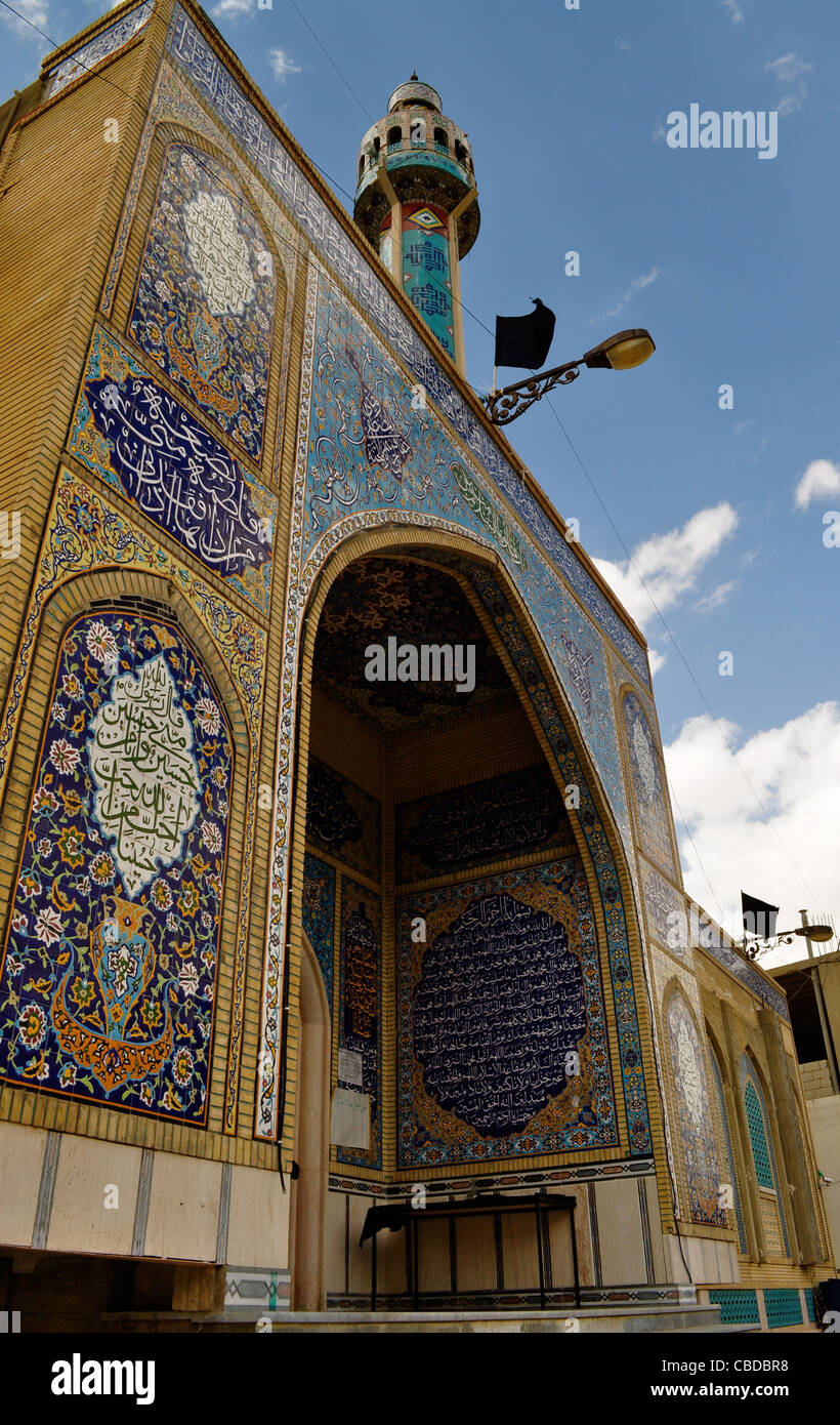Shi'a mosque, shrine visited by women, great granddaughter of the Prophet, Mohammad, Baalbek mainly controlled - Stock Image