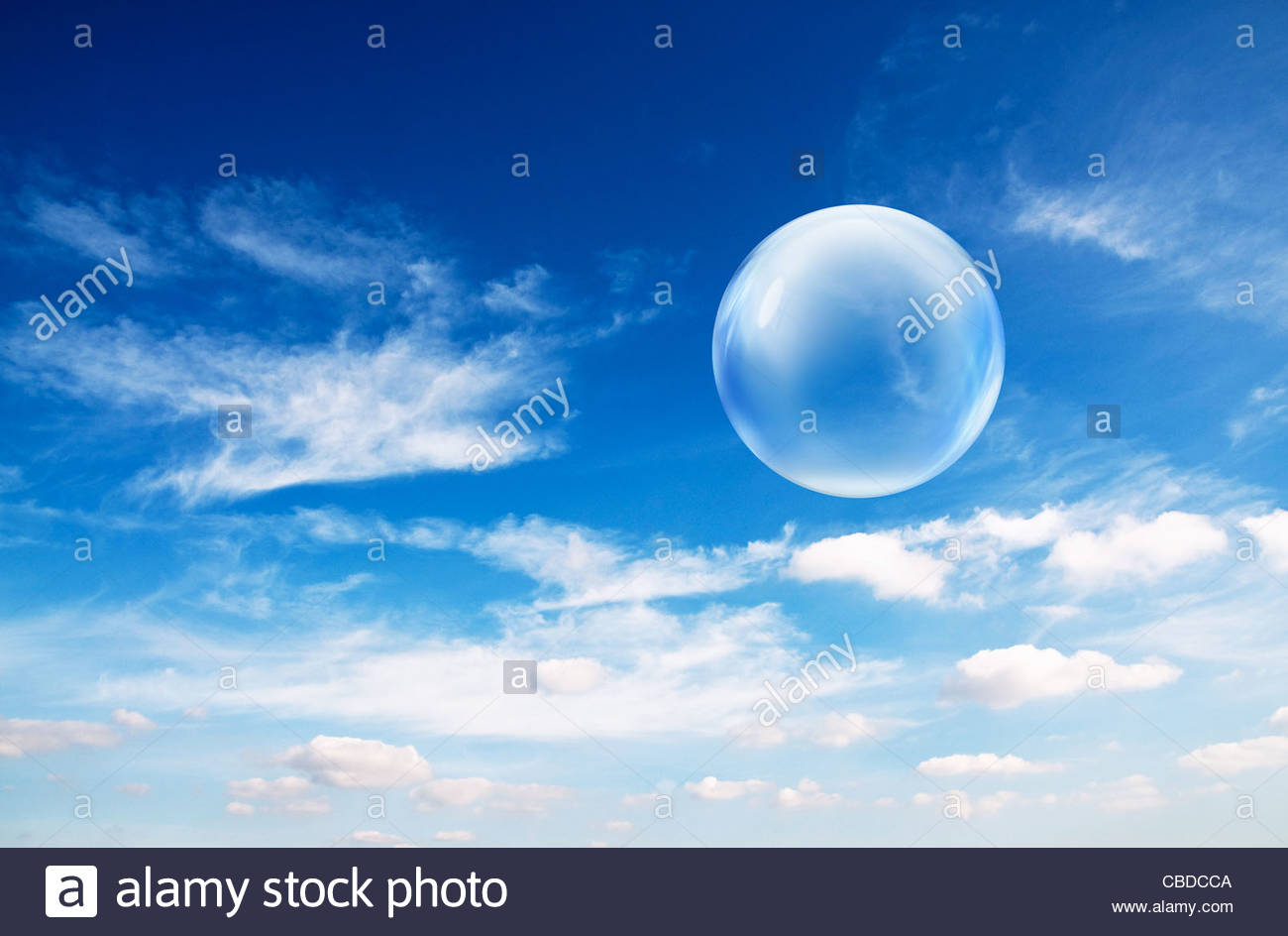 Bubbles in sky - Stock Image