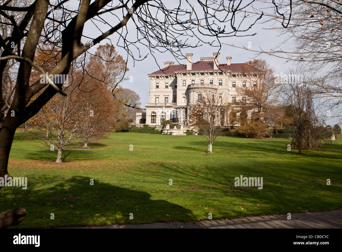 The Breakers, grand house at Newport, Rhode Island. USA - Stock Image