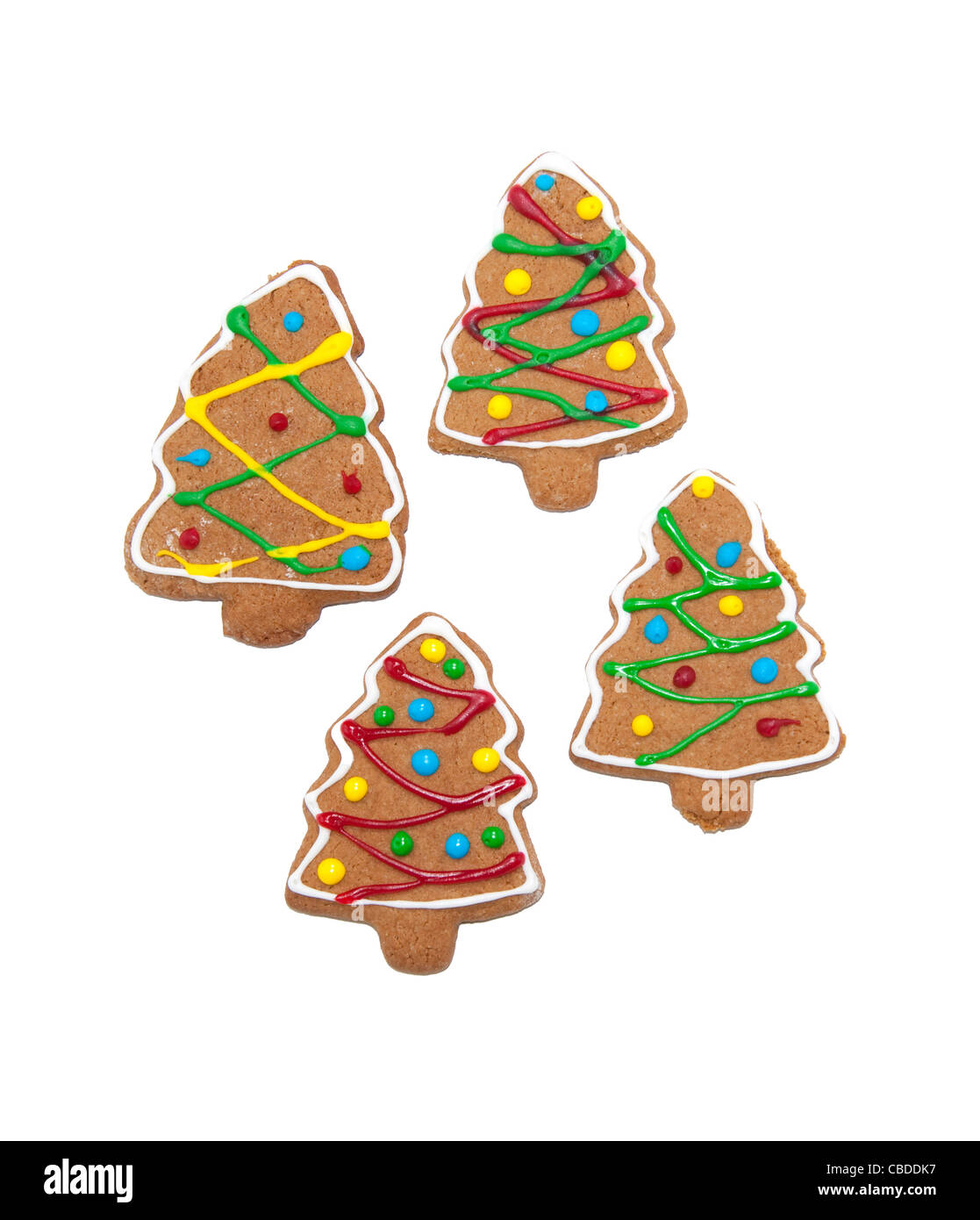 Gingerbread Christmas Trees Stock Photos & Gingerbread Christmas ...