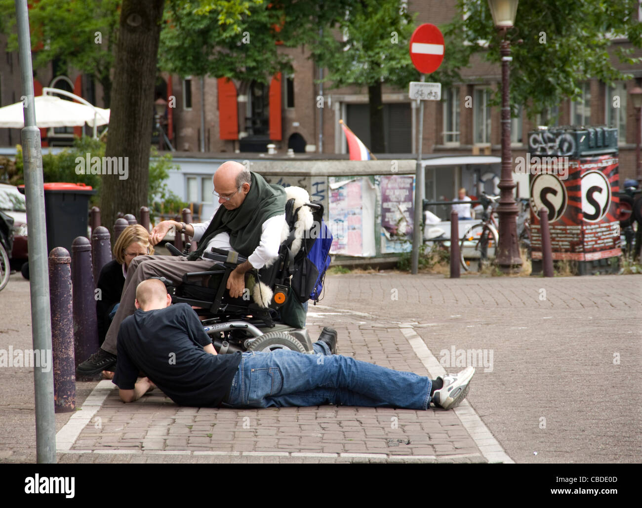 Wheelchair being repaired - Stock Image