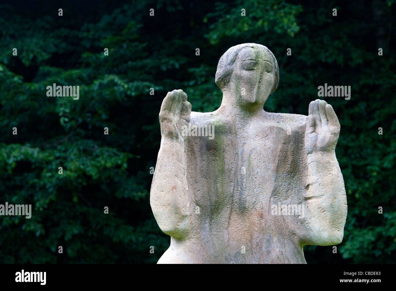 Calvary of the 21st century in Kuks, Czech Republic. 15 sand stone sculptures were were blessed on July 4, 2008 - Stock Image
