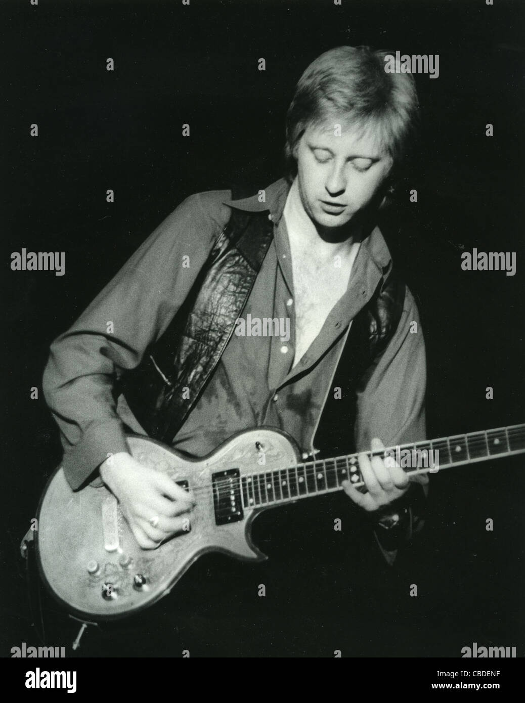 THE PRETENDERS - UK rock group with James Honeyman-Scott on lead guitar about 1982. Photo Paul Smith - Stock Image