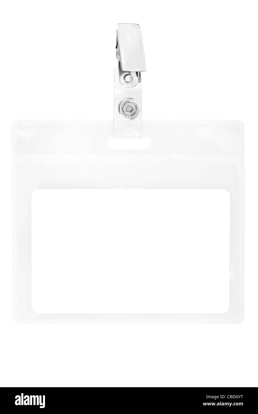Blank badge or ID pass - Stock Image