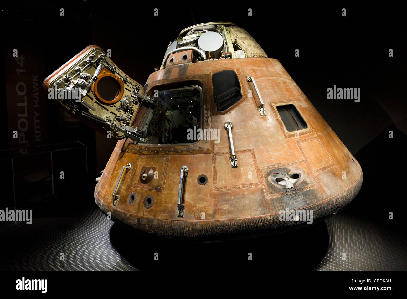 The Command Module from the Apollo 15 moon mission, Saturn V complex, Kennedy Space Center, Merritt Island, Florida, - Stock Image