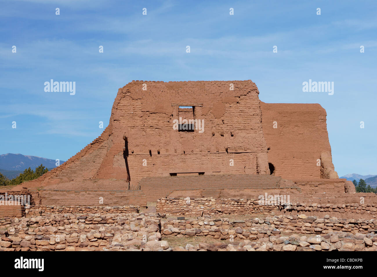 pecos national monument new mexico nm ruins pueblo register historic places san miguel county ruin historical - Stock Image