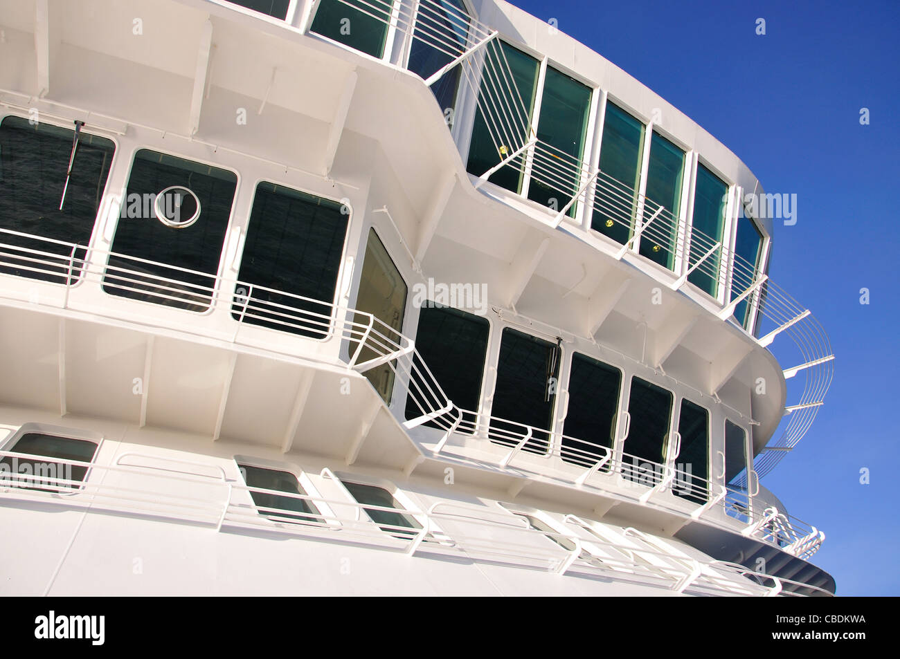 Marquee deck on Fred Olsen M.S.Balmoral cruise ship in North Sea, Northern Europe - Stock Image