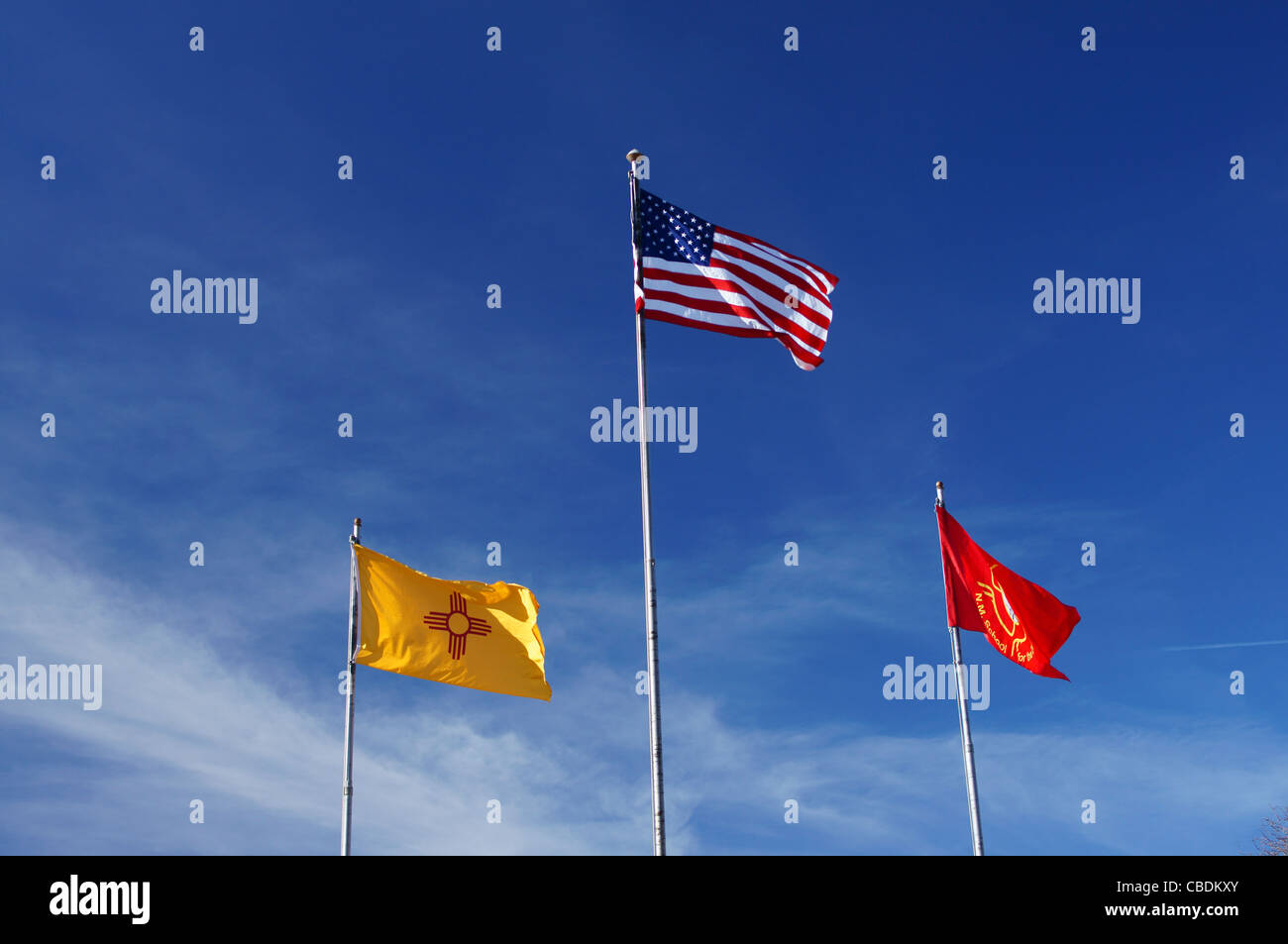 Flags School For The Deaf Santa Fe New Mexico Nm National Register Stock Photo Alamy