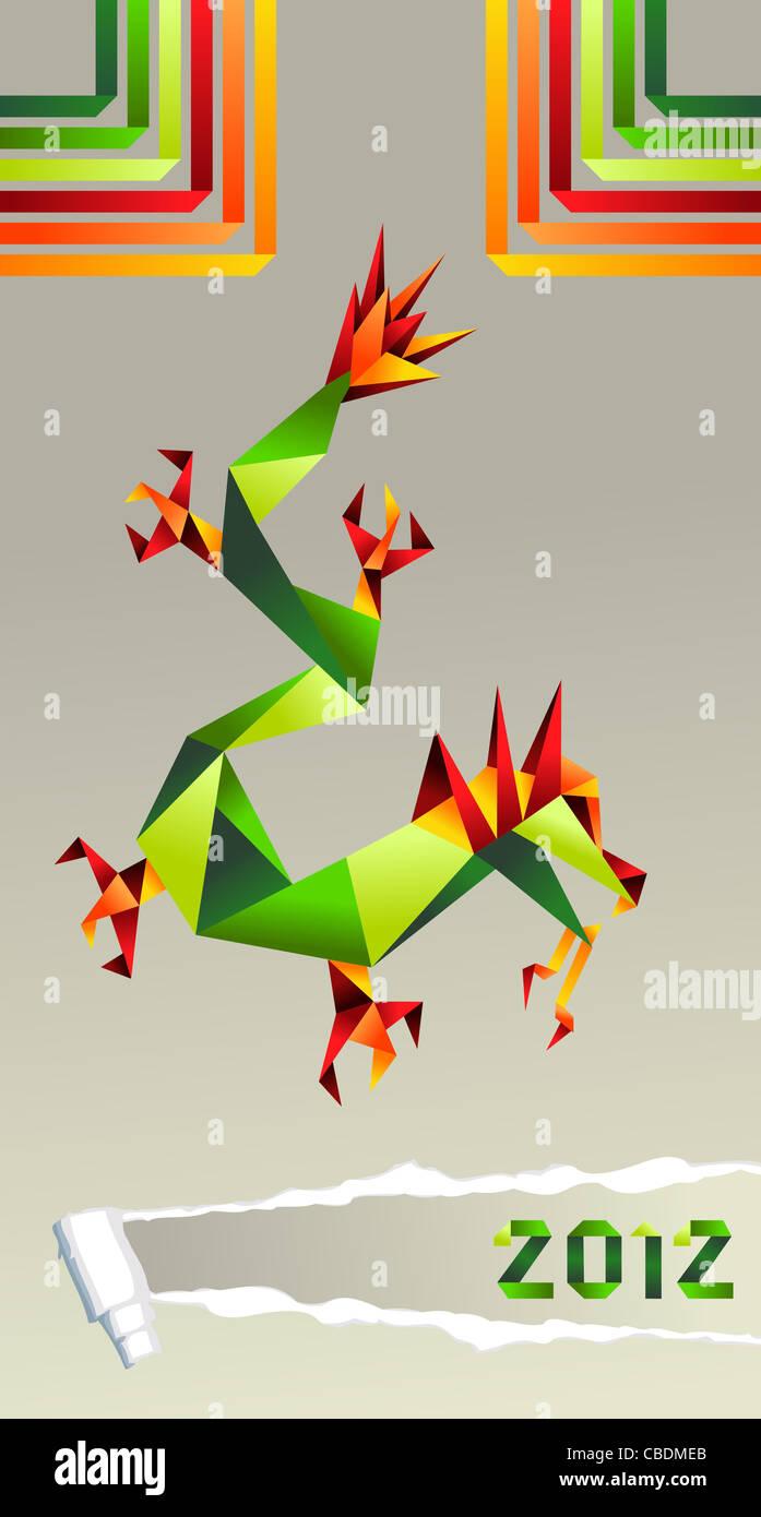 Origami Dragon PNG Images & PSDs for Download | PixelSquid ... | 1390x697