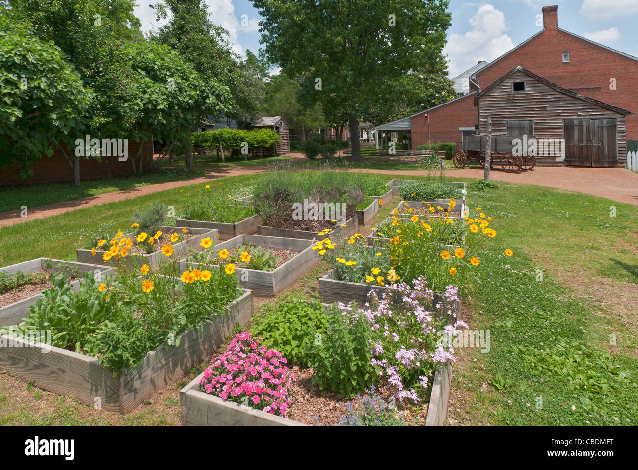 Alabama, Huntsville, Alabama Constitution Village, living history museum, reconstructed buildings circa early 1800s, - Stock Image
