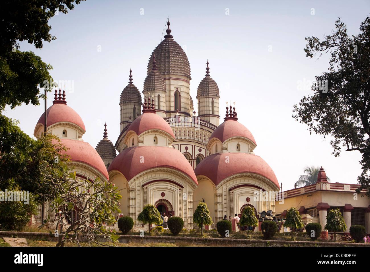India, West Bengal, Kolkata, Dakshineswar Kali Temple - Stock Image