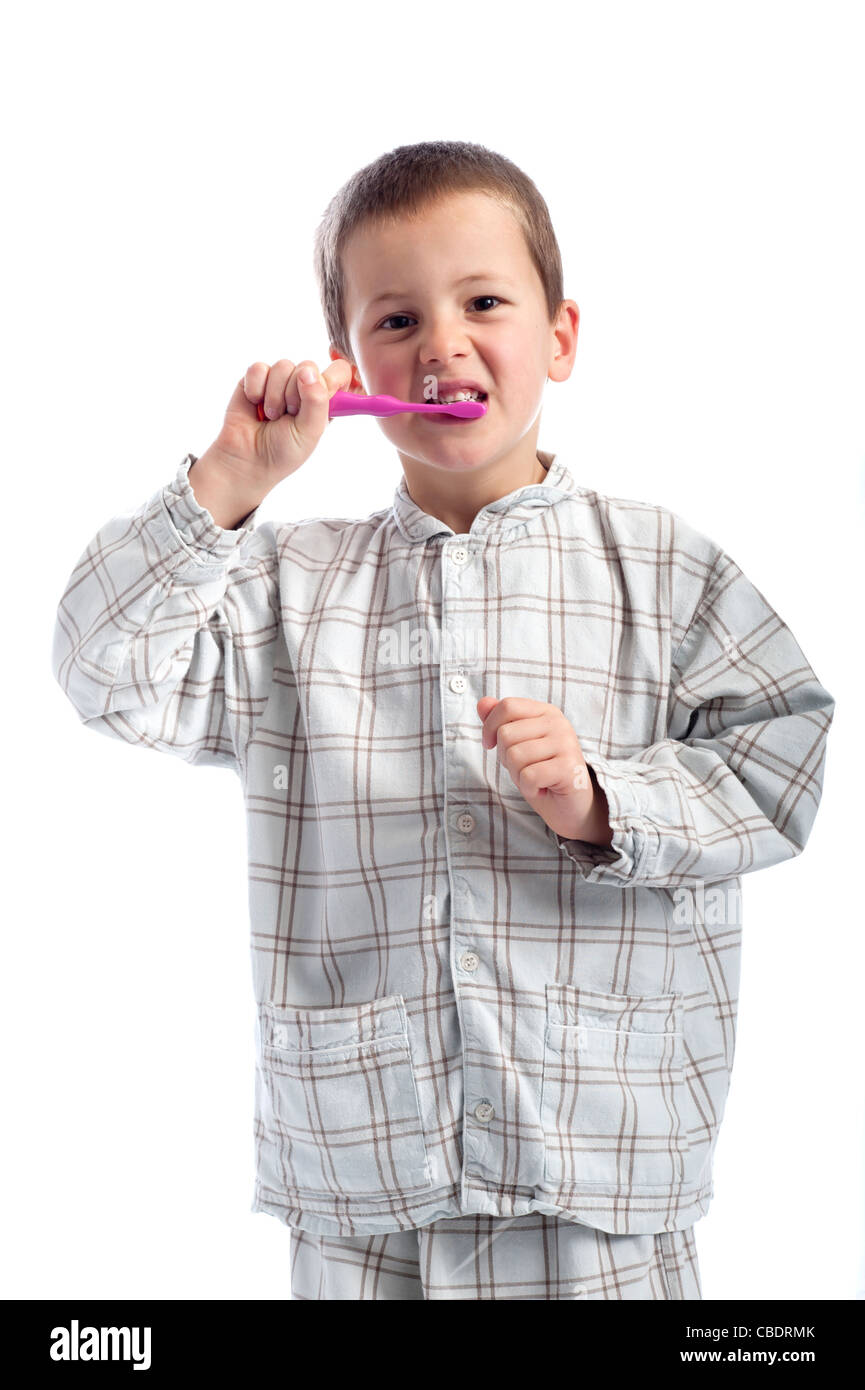 little boy in pajamas