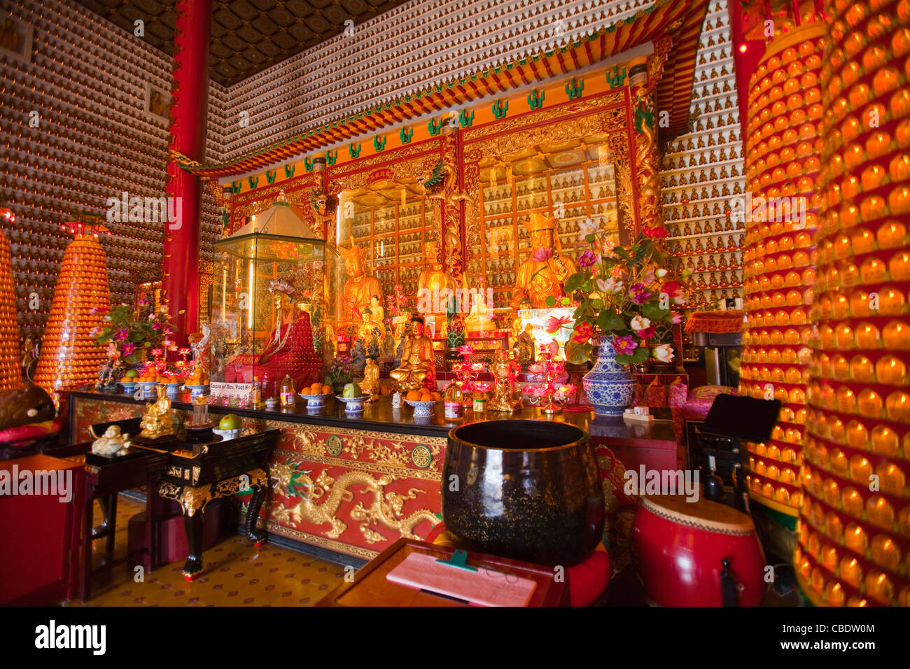 10,000 Buddhas Monastery, Hong Kong, China - Stock Image