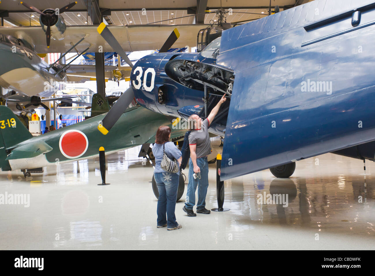 National Naval Aviation Museum in Pensacola Florida - Stock Image